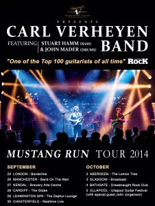 Carl verheyen UK tour dates 2014